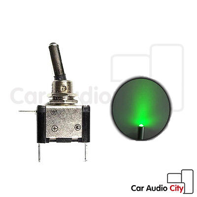 20A/12v Illuminated Green LED Toggle Flick Switch ON/OFF Missile Style Car Van