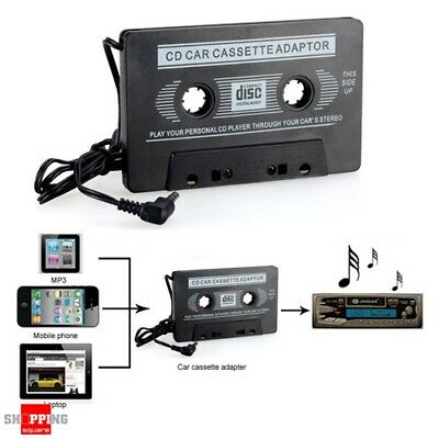 3.5mm Audio AUX to Car Tape Cassette Adapter Converter fr iPhone iPod MP3 Player