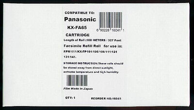 New KX-FA65 Fax Cartridge for Panasonic KX-FP101 KX-FP105 KX-FP106 KX-FP121 AL