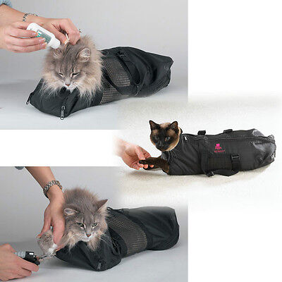 Heavy Duty Mesh Cat Grooming Bathing Restraint Bag -  3 Sizes & Vet Sets Too !