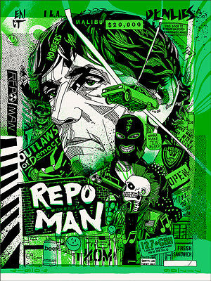 REPO MAN Mondo Poster Print TYLER STOUT SIGNED AP ##//40 MINT SOLD OUT VERY RARE