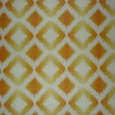 CLARENCE HOUSE Marbella Ikat Yellow White Acrylic New Remnant