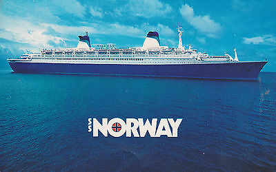 1982 SS NORWAY POSTCARD Cruise Ship NCL Norweigin Carribbean Lines Vintage NEW