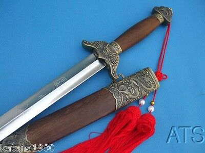 Chinese Hand Forged Tai Chi Sword Flexible Blade Free Red Tassel