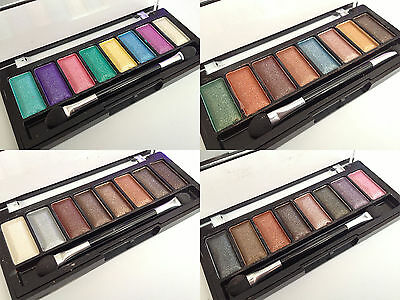 New 6 Colour Shimmer Strong Pigment Eyeshadow Palette With Applicator