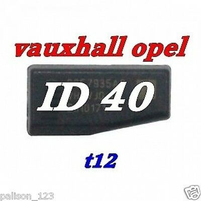 Vauxhall opel transponder chip ID40 T12 for Astra Corsa Vectra car key