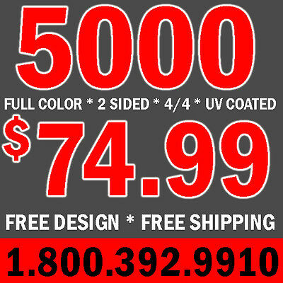 5000  Full Color Business Cards Print & Design- UV Coated -  Free Shipping 4/4