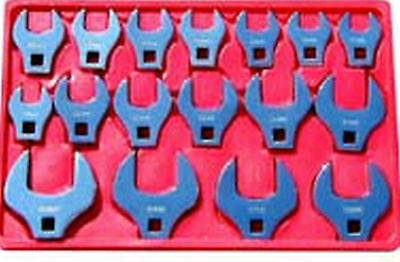 "17 Piece Jumbo Crowfoot Wrench Set 1/2"" drive - Metric 20mm to 46mm  V8T 7917"