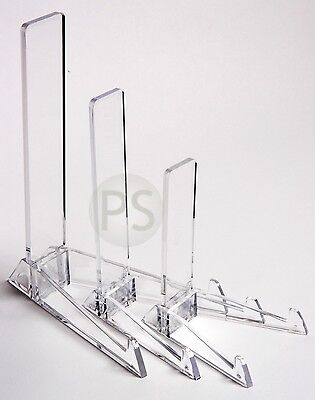 Clear Vertical Display Stand : Small, Medium or Large : Plate, Photo Frame, Sign