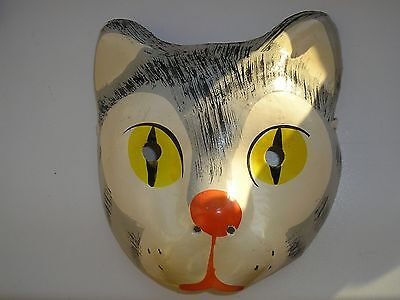 "Vintage Russian  CHRISTMAS & New Year cardboard mask ""Cat"""
