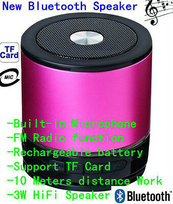 Red Portable Wireless Bluetooth Stereo Mini Speaker Super Bass For Smartphone PC