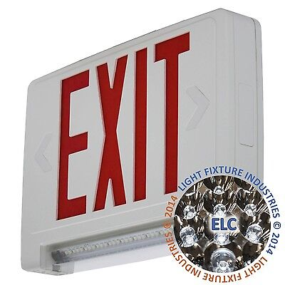 Red ALL LED Exit Sign & Emergency Light Pipe Combo UL COMBOLP