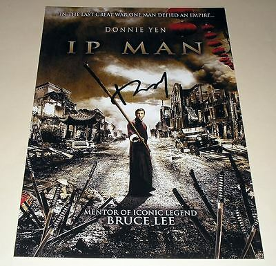 """Yip Man Pp Signed 12""""x8"""" Poster Ip Donnie Yen"""