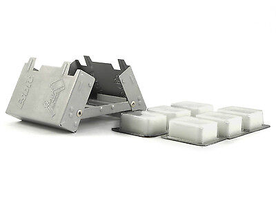 Esbit Camping Folding Pocket Stove + 6pc x 14g Solid Fuel Cube Tablets