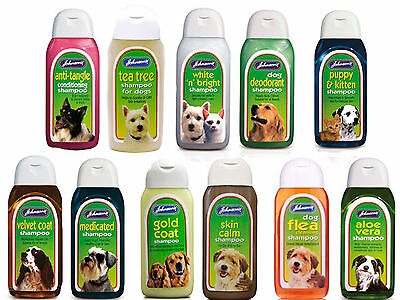 Johnsons shampoo for dog puppy kitten best wash flea deodorant  tea tree 125ml