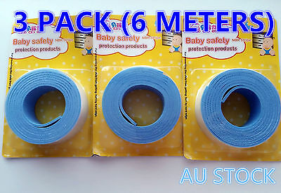 3x Meter Baby Kids Safety Table Desk Edge Corner Cushion Guard plain Protector