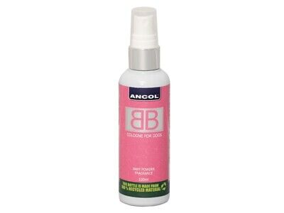 Ancol Dog Cologne BB K9 Deodorant Spray Dogs Baby Powder Aftershave Fragrance