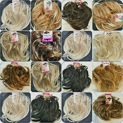 Hair Scrunchie Wrap Synthetic Elasticated Bun Updo Messy Hairpiece Large Wavy