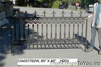 VICTORIAN STYLE CAST IRON BEAUTIFUL HEAVY DUTY SOLID ESTATE FENCE H017