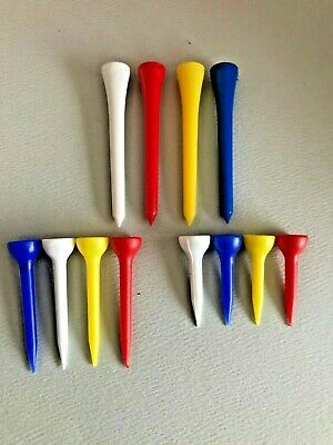 Plastic Golf Tees - Three Sizes to choose from - Various Quantities FREE UK P+P