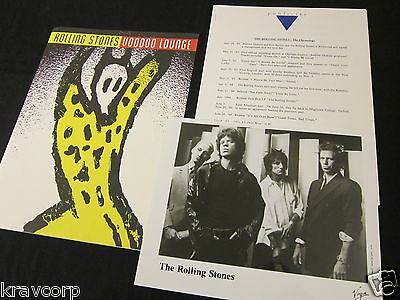 The Rolling Stones 'Voodoo Lounge' 1994 Press Kit--Photo