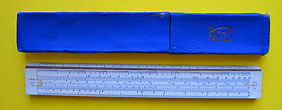Vintage USSR Russian Soviet Collectible Engenering Slide Rule. Plastic And Wood.