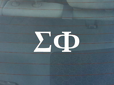 Sigma Phi Window Decal - White