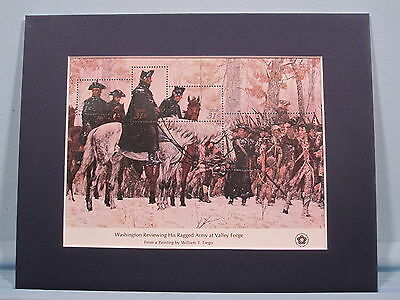 Washington Reviews his Army at Valley Forge & its own souvenir sheet (SC #1689)