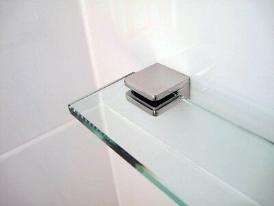 Glass Shower Shelf (various sizes)  316 Stainless Steel Clamps AUST MADE GLASS