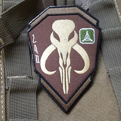 STAR WARS BOBA FETT MANDALORIAN BANTHA SKULL Embroidered Hook Patch