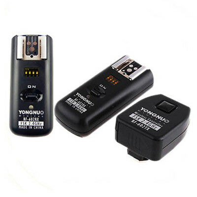 Yongnuo RF-602 wireless flash trigger w 2 receivers for Canon 7D 5D II 1D 600D