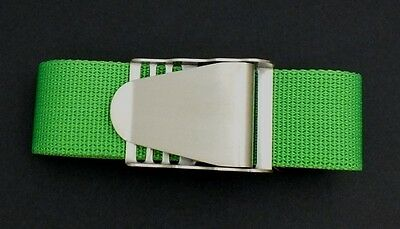 Scuba Snorkelling Green Weight Belt with Stainless Steel Quick Release Buckle