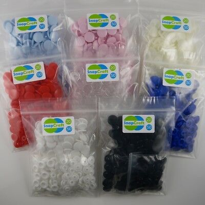 KAM SNAPS, Size 20 - 50/100 sets - FREE P & P -  Plastic Poppers, Snap Fasteners