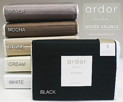 Quilted Valance Bedskirt by Ardor Single King-Single Double Queen King CHOOSE