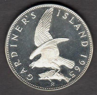 """Gardiner Island 1965  """"pattern Trial Proof On Sterling Plus"""" See Pictures"""