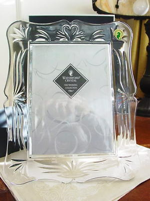 Waterford Crystal WEDDING 5 X 7 Photo Picture Frame  - NEW!