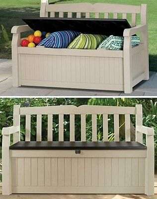 keter truhenbank gartenbank eden aufbewahrungsbox mit sitzfunktion. Black Bedroom Furniture Sets. Home Design Ideas