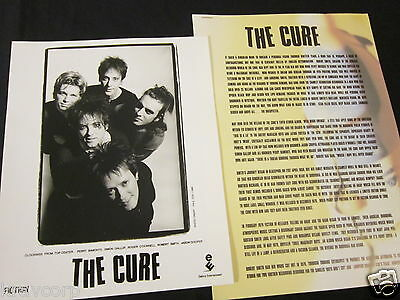 The Cure 'Wild Mood Wings' 1996 Press Kit—Photo
