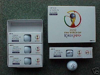 World Cup 2002 Official CompanyGift Titanium Golf Balls