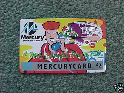 Mercury £2 Pcard MER 103 Colourful Way to Call - Yellow