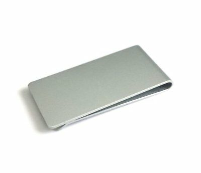 Stainless Steel Brushed Metal Silver Money Cash Note Thin Holder Clip Wallet