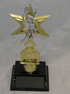 Tennis Female Figurine Star Trophy 195mm Engraved