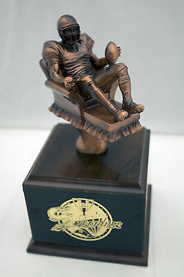 ARMCHAIR QUARTERBACK FANTASY FOOTBALL TROPHY-  FREE ENGRAVING!  SHIPS IN 1 DAY!