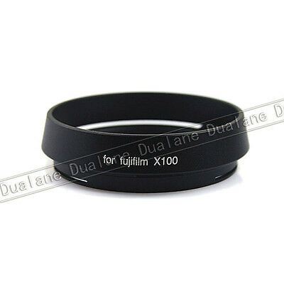 Lens Hood for Fujifilm finepix LH-X100 X100 49mm Adapter Ring for AR-X100 Black