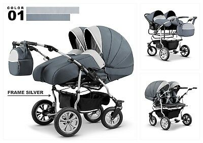CLEO Baby Travel System 3in1 SWIVEL WHEELS, PRAM, PUSHCHAIR CAR SEAT 22 Colors