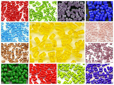 CHOOSE COLOR! 20g 3x5mm 2-hole Rulla Beads Czech Glass