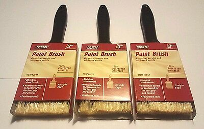 """Set of 3 3"""" Professional Paint Brush Synthetic"""