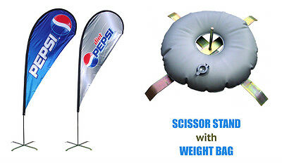 Teardrop Banner-8FT Double Sided Full Color(Pole+Banner+Carrybag+Stand+Waterbag)