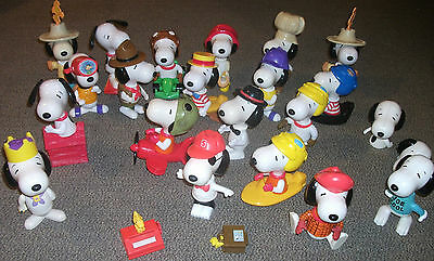 A Grand Collection of 20 Snoopy Figurines Joe Cool