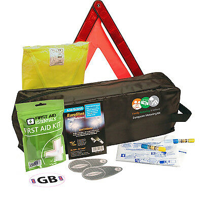 Travel Abroad Euro European Standard Driving Kit With Alcohol Breathalyser